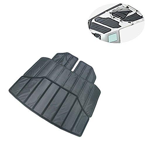 (Lantsun 4X Hardtop Sound Deadener Headliner Hinges Heat Insulation Insulation for 4-Door Jeep Wrangler JK 12-16(J180) )
