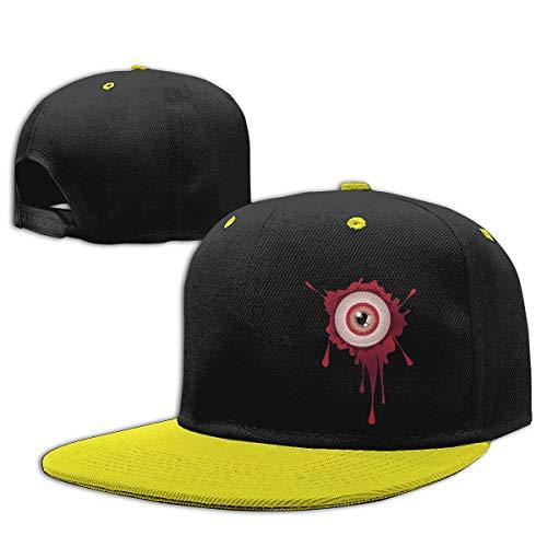 Red Christ Boys Girls Trucker Hat. Halloween Bloody Eyeball Flat Brim Baseball Cap Hip-Hop]()