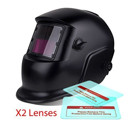 Proelectric Black Print Professional Auto Darkening Solar Powered Welders Welding Helmet Mask With Grinding Function by Proelectric