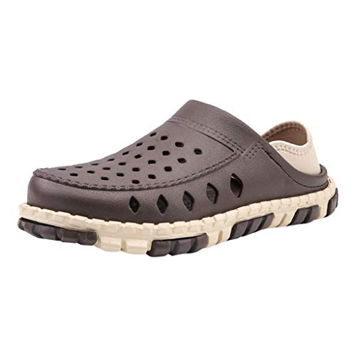 ✦◆HebeTop✦◆ Mens Womens Lightweight Quick Dry Garden Clogs Beach Water Shoes Brown