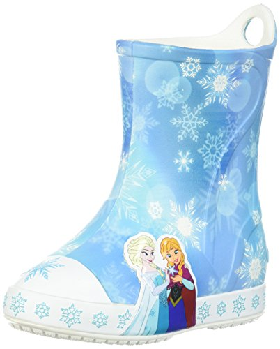 Frozen Rain Boot Slip-On, Ice Blue, 8 M US Toddler ()