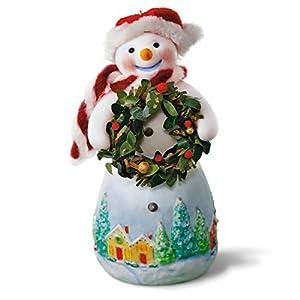 Hallmark Keepsake 2017 Snowtop Lodge Benny M. Merrymaker With Wreath Christmas Ornament 13