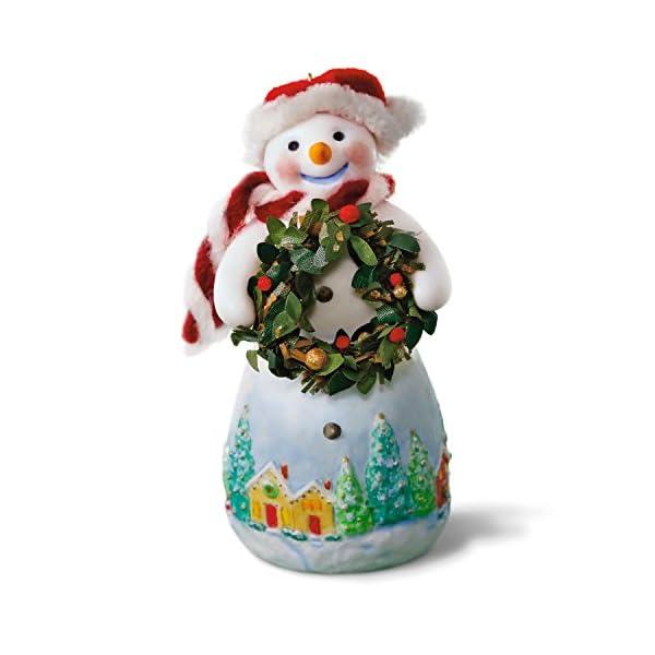 Hallmark Keepsake 2017 Snowtop Lodge Benny M. Merrymaker With Wreath Christmas Ornament