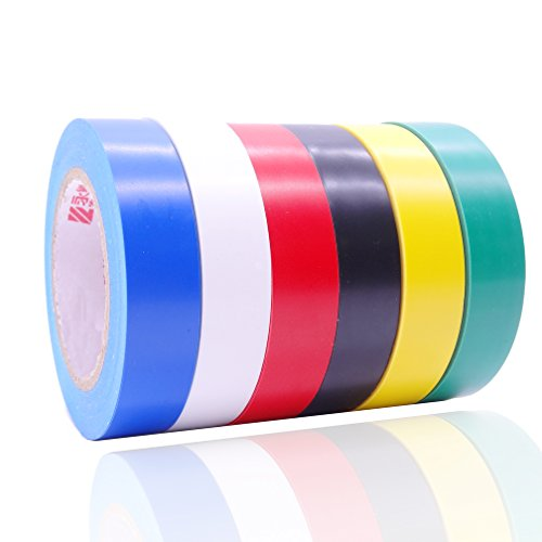 Electrical Insulation Tape, Assorted Colors, Each Roll is 0.6