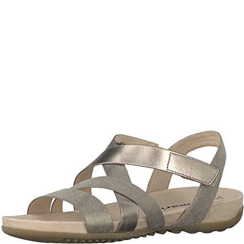 Lanières chaussures 1 sandales Comb confortable Lanières Sandale sandales Tamaris Femme 1 À Rose 22 D'été 28604 plat 8qwAPv