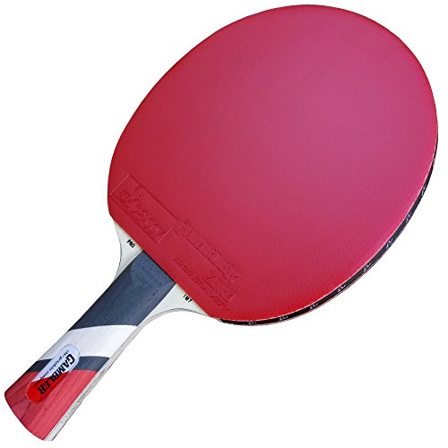 Review Of Custom Gambler Professional Table Tennis Paddle with IM7 Graphite Blade and Zero Rubber pl...