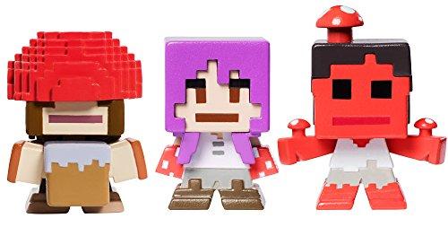 Mattel Minecraft Biome Settlers Series Mooshroom Mini Figure (3 Pack)