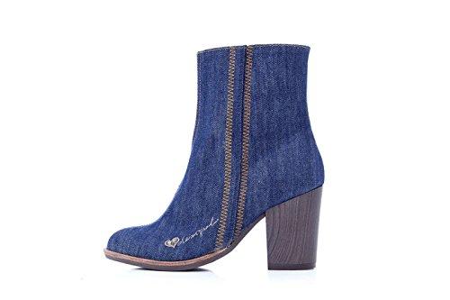 Desigual Ankle Boots Donna Scarpe Denim Esotico Folk 17wstfb8 Denim
