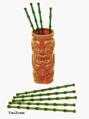 25 Bamboo Tiki Cocktail Swizzles - Party Stirrers by Tikizone