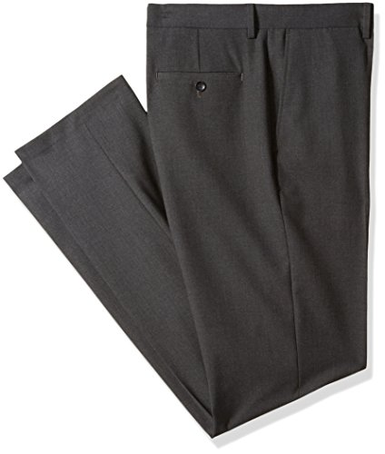 - Haggar J.M 4-Way Stretch Solid Flat Front Slim Fit Suit Separate Pant, Charcoal Heather, 36Wx36L