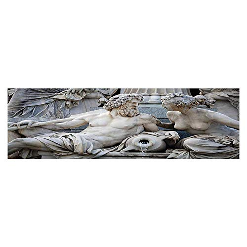 (Jiahong Pan Aquarium Sticker Male and Female Statues Athena Fountain in frt of The Building of Austrian Parliament Wallpaper Sticker Background Decoration 23.6