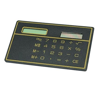 Erocket Mini Slim Credit Card Solar Power Pocket Calculator Amazon