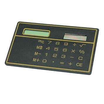 Amazon.com : Mini Slim Credit Card Solar Power Pocket Calculator ...