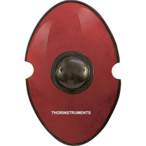 THORINSTRUMENTS Red Elliptical Larp Shield Red Renactment For Battle by THORINSTRUMENTS