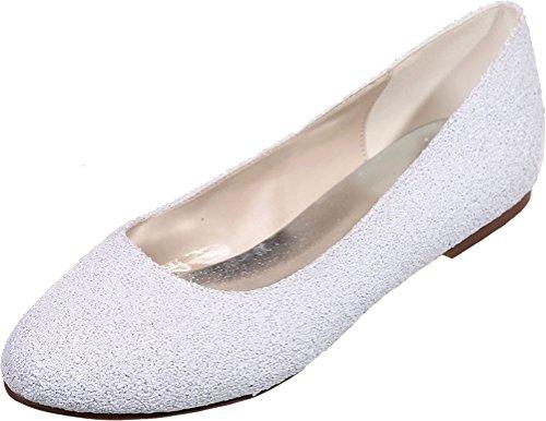 Blanc Femme 5 Compensées Sandales 36 Blanc Nice Find wqOt0XW