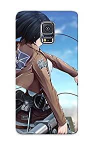 RQtMPHX2808vNmpN Premium Mikasa Ackerman Attack On Titan Back Cover Snap On Case For Galaxy S5