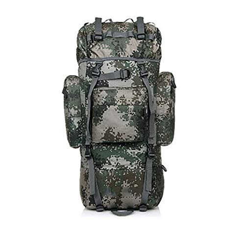 キャンプ用バックパック アウトドアハイキング登山バッグ防水大容量スポーツ旅行バッグアウトドアスポーツバックパック 軽量 (色 : 緑)  緑 B07R9KFLJ2