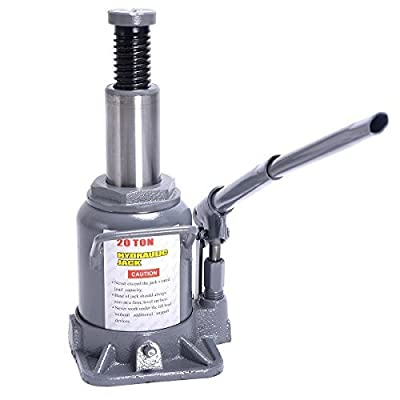 20 TON Hydraulic Bottle Jack Low Profile Automotive Shop Axle Jack Hoist Lift-For Heavy duty