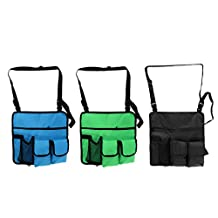 MonkeyJack 3 Pieces Beach Chair Hanging Storage Pouch Shoulder Side Bag Backpack for Outdoor Camping Hiking Travel Mobile Phone Water Bottle