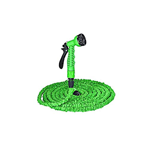 - 7.5M 45M for Garden Watering Hose Garden Hose Flexible extensible Watering Hose Water Gun Water pistool,100ft,Green