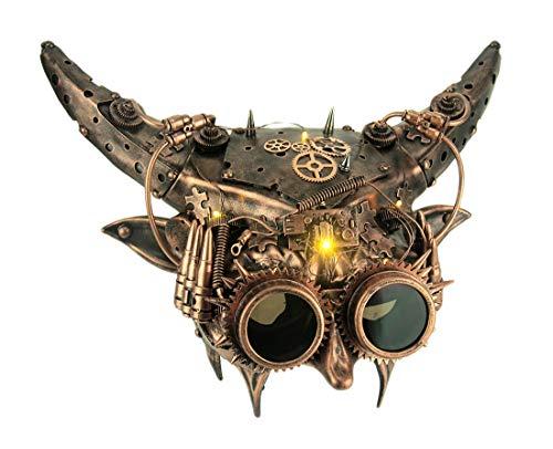 - Mechanical Devil Light Up Adult Horned Steampunk Demon Mask Copper