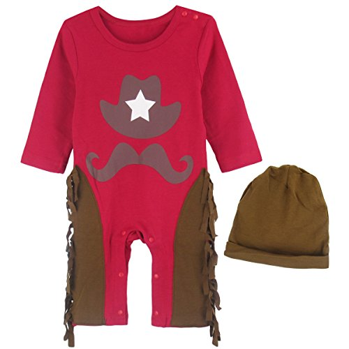 Baby Cowboy Up Costumes (A&J Design Baby Boys' Cowboy Costume Outfit with Hat (12-18 Months))