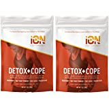 iON Performance Detox + Cope Bath Soak With Epsom Salt, Coconut Oil, Rosemary, Beet Root Powder, 7 Ounce (2 Pack)