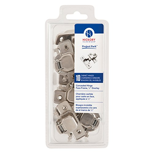 (Hickory Hardware VP5124-14 Project Collection Value Euro Frame Hinge Polished Nickel Finish (10 Pack), Bright)