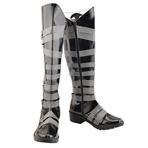 DUNHAO COS Anime Black Butler Undertaker Halloween Cosplay School Custom Shoes Boots Female US 6/EU37