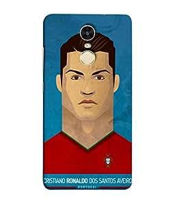 ColorKing Football Ronaldo Portugal 04 Blue shell case cover for Xiaomi Redmi 5