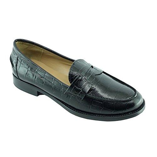 Angelina®mocassin - Mocasines Mujer , Negro (C-Noir), 40: Amazon.es: Zapatos y complementos