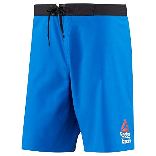 Reebok Crossfit Men's Blue 2017 Crossfit Games Super Nasty Speed Board Shorts (M)