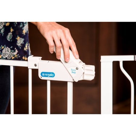 Regalo 58-Inch Extra WideSpan Walk Through Baby Gate, Pressure Mount with 3 Included Extension Kits