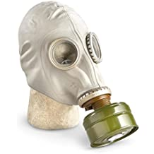 GP-5 Original Soviet Civilian Protective Gas Mask (activated Charcoal filter and bag included) (Extra Large, white)