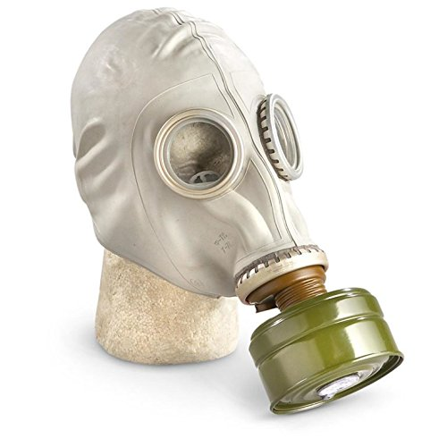GP-5 Original Soviet Civilian Protective Gas Mask (activated Charcoal filter and bag included) (Extra Large, white) ()