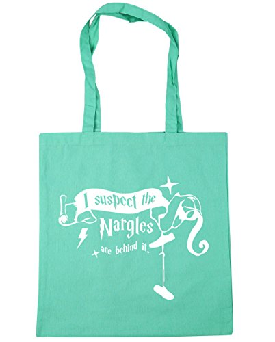 HippoWarehouse I Suspect The Nargles Are Behind It Quote Tote Shopping Gym Beach Bag 42cm x38cm, 10 litres Mint