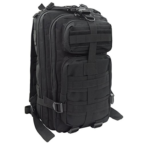 eBoTrade Sport Outdoor Military Rucksacks Tactical Molle Backpack Camping Hiking Trekking Bag Black