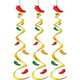 Fiesta Party Chili Pepper 30'' Wind Whirls 3 Per Pack