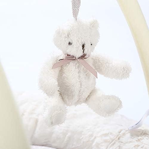 Tapis d'Éveil Musical pour fille Activity Nest Bear NBWS - arcade de jeu souple avec 6 jouets amovibles pour bé