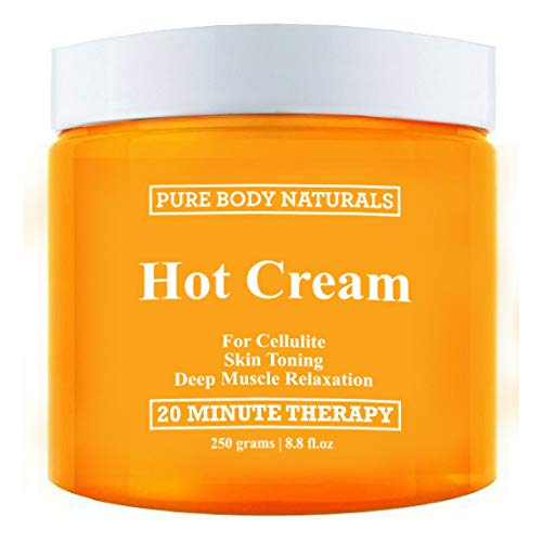 Pure Body Naturals Hot Cream for Cellulite Reduction, Skin Toning and Slimming, Deep Muscle Relaxation, 8.8 (Redefining Gel Cream)
