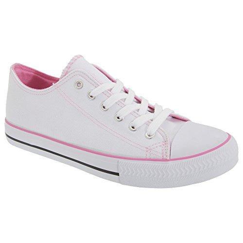 Dek - Zapatillas deportivas con cordones para mujer Púrpura