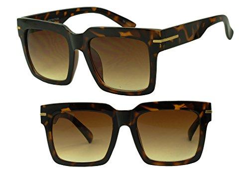 Womens Oversized Thick Bold Tortoise Shell - Semi Shell Tortoise Rimless Eyeglasses