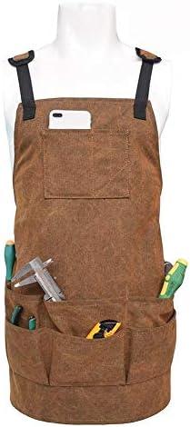 ガーデニングエプロン ポケット男性&女性のための快適なと完全に調整可能な耐久性のあるツールエプロン