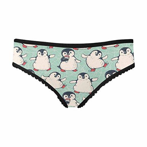 - INTERESTPRINT Women's Stretchy Soft Panty Cute Penguins XL