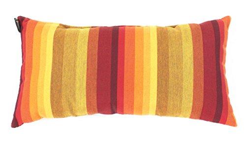 Sunbrella Striped Lumbar Pillow 20x10 Indoor/Outdoor (Astoria Sunset) (Sunbrella Sofa Indoor)