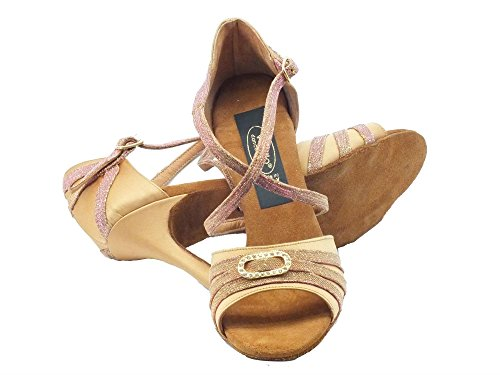 Vitiello Dance Shoes 479 Camoscio Night Latino, Chaussons de danse pour femme Raso tanganica