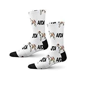 Funny Mens Socks Aidi Dog Breed Style A Polyester Crazy Socks Womens 18