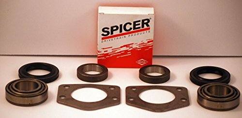 Spicer Rear Axle Bearing and Seal Kit For 1997-06 Jeep TJ /w Dana 44 Both Sides Axle Shaft Outer Bearing