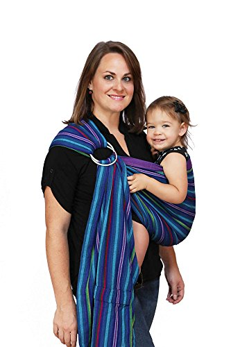 Maya Wrap Lightly Padded Ring Sling Baby Carrier - Berries - Large