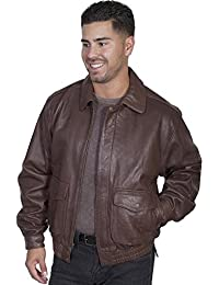 Men's Rugged Lambskin Leather Jacket - 907-73